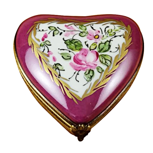 $149.00 Burgundy Heart With Flowers
