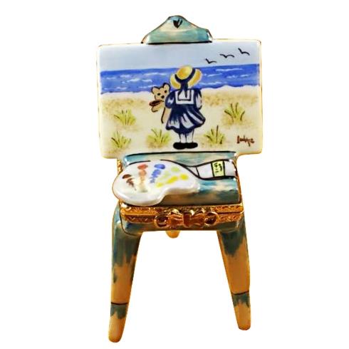 $289.00 Easel W/Girl & Seashore
