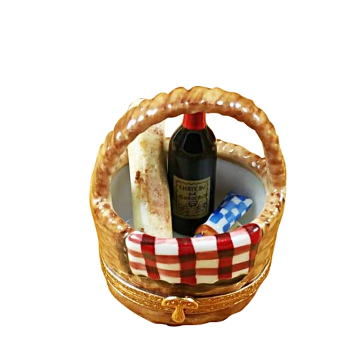 $269.00 PICNIC BASKET WITH WINE, BREAD & CHEESE