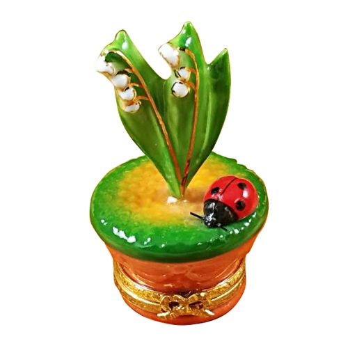 $229.00 Lily Of The Valley W/Ladybug In Pot