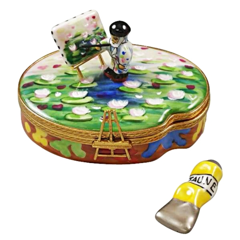 $259.00 MONET PALETTE WITH ARTIST AND PAINTING WITH REMOVABLE TUBE OF PAINT