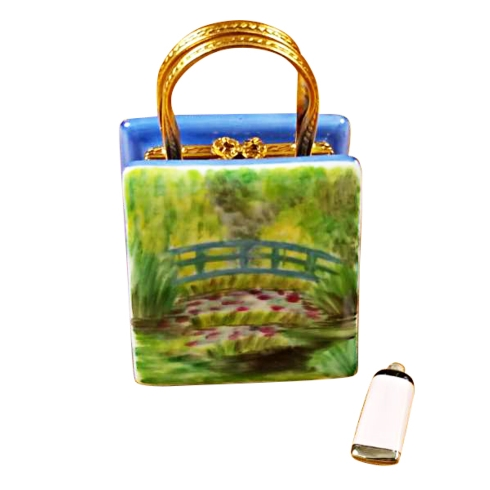 $259.00 MONET BAG WITH BRIDGE AND WATER LILY INCLUDES REMOVABLE PAINT TUBE