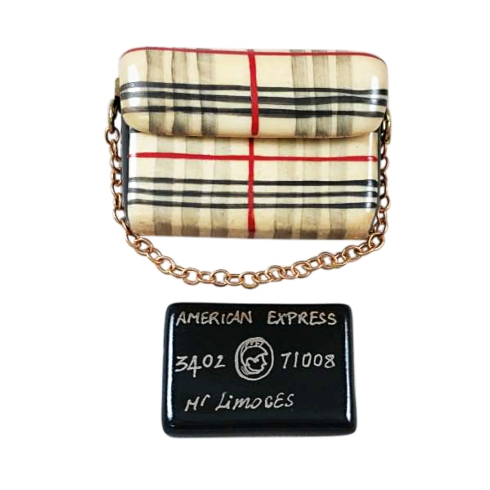 $269.00 BURBERRY PURSE WITH BLACK AMERICAN