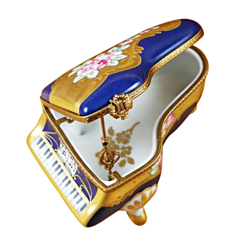 $329.00 Grand Piano Roses Blue/Gold