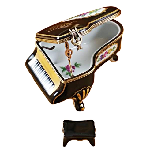 $429.00 Grand Piano Floral With Porcelain Bench