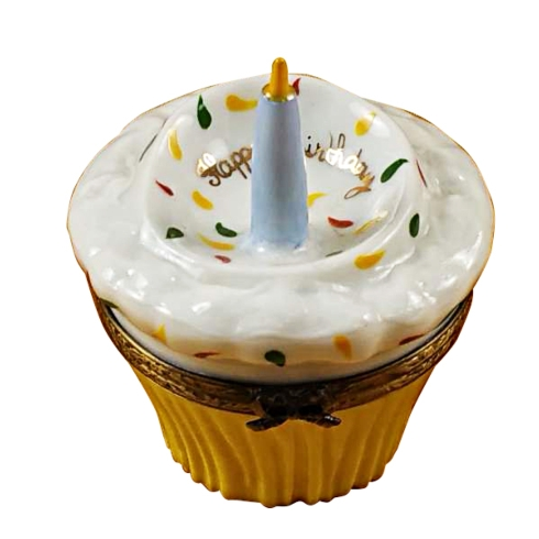 $179.00 Cupcake With Blue Candle