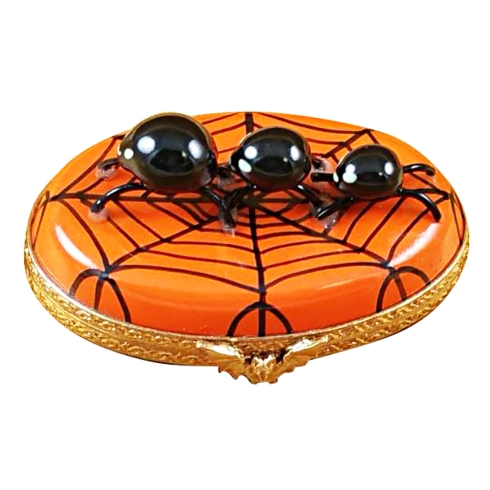 SPIDER ON OVAL - HAPPY HALLOWEEN