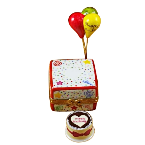 $259.00 Birthday Cake W/Balloons  & Confetti