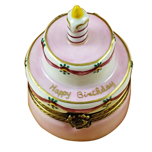 $199.00 Birthday Cake W/Pink Candle