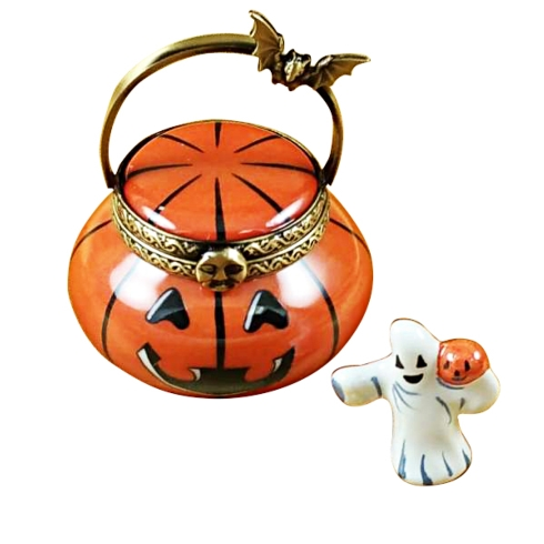 JACK O LANTERN PAIL WITH REMOVABLE GHOST image