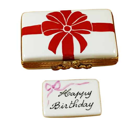 $179.00 Gift Box With Red Bow - Happy Birthday