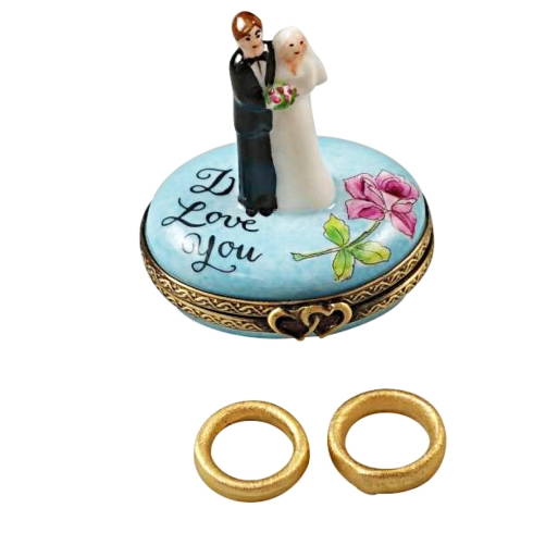 $229.00 BRIDE & GROOM WITH TWO REMOVABLE PORCELAIN RINGS