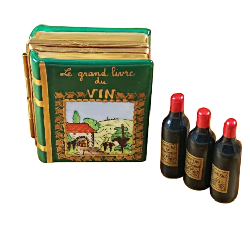 $349.00 Wine Book W/Three Bottles