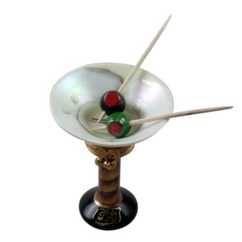$299.00 Martini Glass with Olives