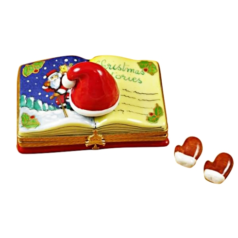 "$259.00 CHRISTMAS BOOK - ""CHRISTMAS STORIES"" WITH REMOVABLE GLOVES"