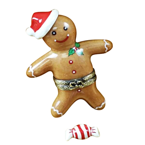 $229.00 SANTA GINGERBREAD MAN WITH 3D HAT AND PEPPERMINT CANDY