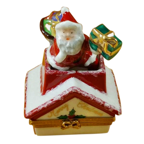 $229.00 Santa Claus On Roof With Presents