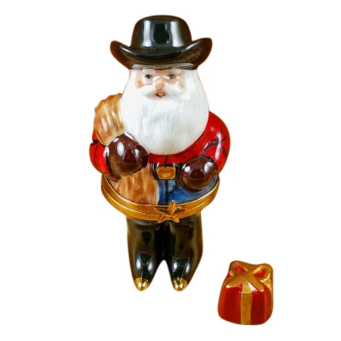 $259.00 SANTA WITH COWBOY HAT, BOOTS, ROPE & REMOVABLE PRESENT