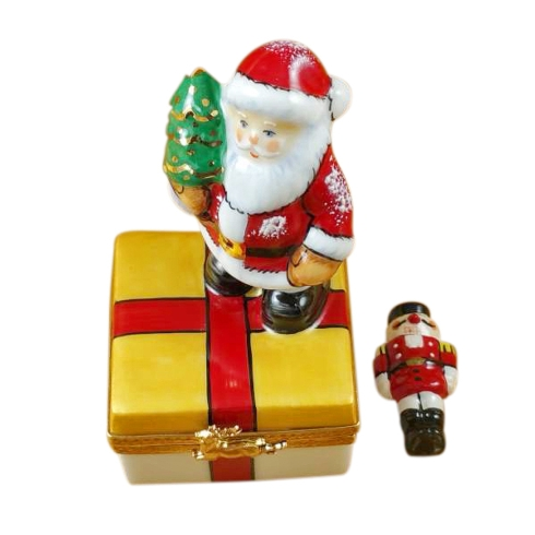 $259.00 SANTA ON PRESENT WITH REMOVABLE NUTCRACKER