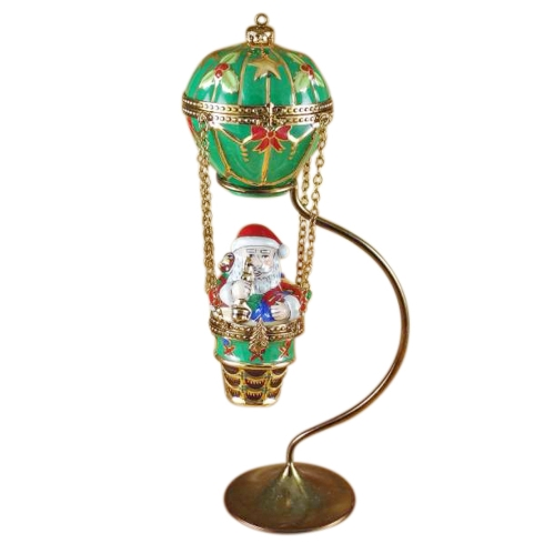 $399.00 Santa In Balloon With Brass Stand