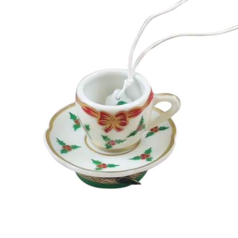 CHRISTMAS TEACUP WITH TEA BAG