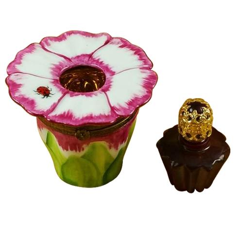$259.00 Pink Flower W/Perfume Bottle