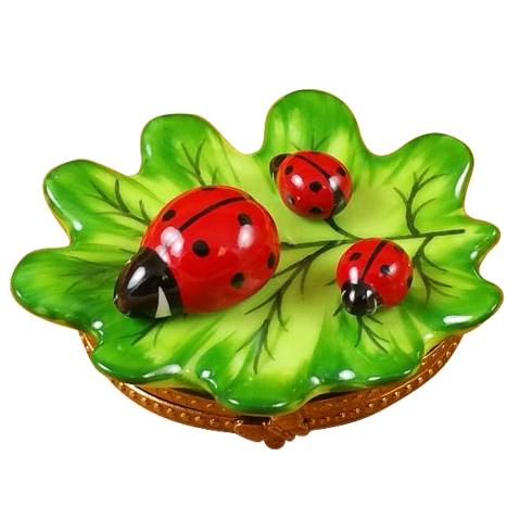 $229.00 Green Leaf With Three Ladybugs