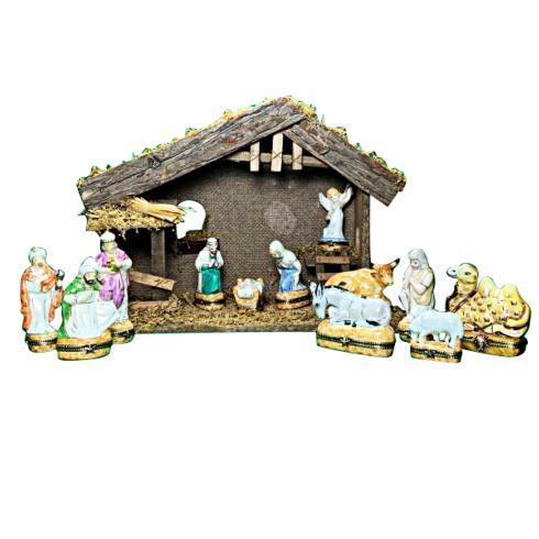 $2,799.00 Twelve Piece Satin Nativity Set