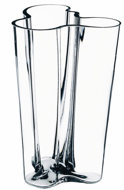 "$190.00 Finlandia Vase 10"" Clear"