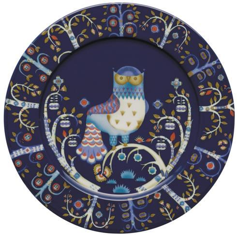"$50.00 Dinner Plate Flat 12"" Blue"