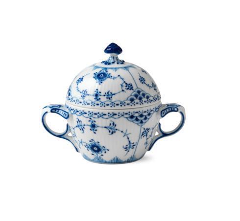 Royal Copenhagen  Blue Fluted Half Lace Sugar Bowl $240.00
