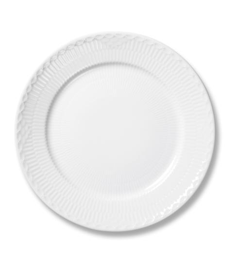 Royal Copenhagen  White Fluted Half Lace Salad Plate $55.00