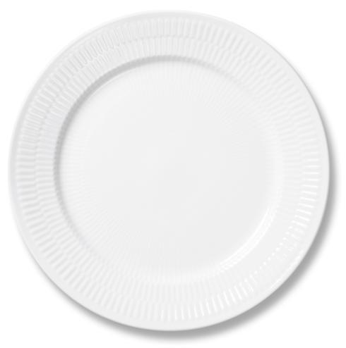 Royal Copenhagen  White Fluted Dinner Plate $55.00