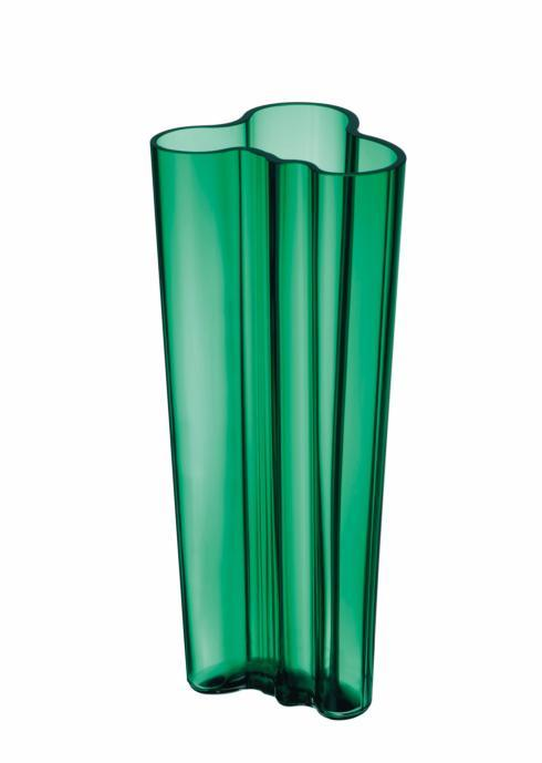 "$195.00 Vase 10.25"" Emerald"