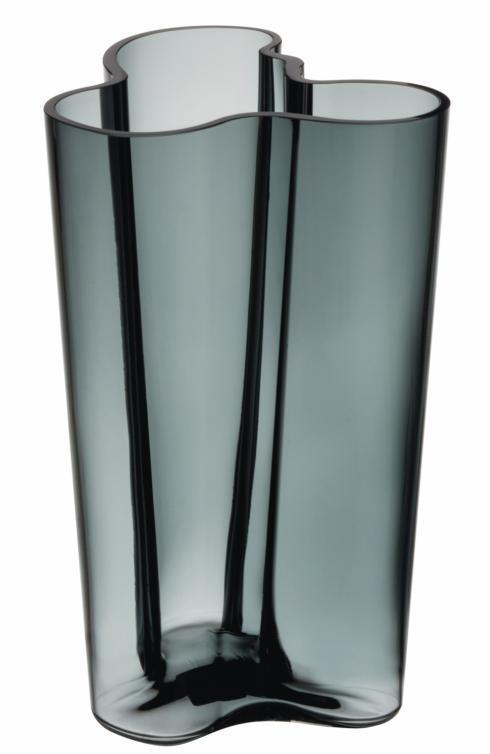 "$210.00 Finlandia Vase 10"" Dark Grey"