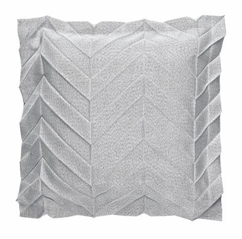 "$175.00 Cushion Cover 20"" x 20"" Zigzag Light Grey"