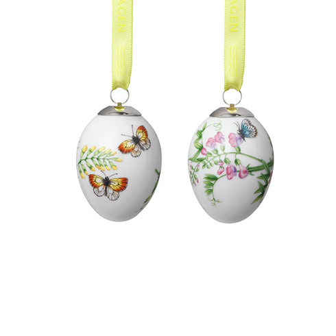 S/2 Easter Eggs Blue & Yellow Butterflies 2.5