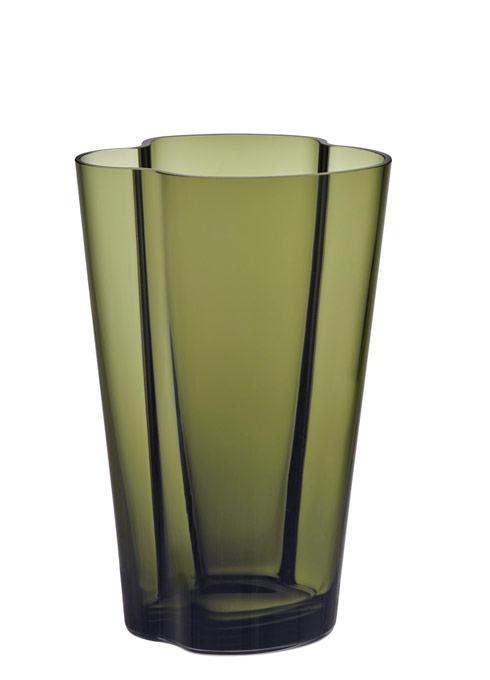 "$175.00 Vase 8.75"" Moss Green"