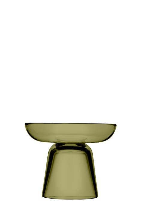 """$85.00 Pillar Candleholder 4.25"""" Moss Green"""