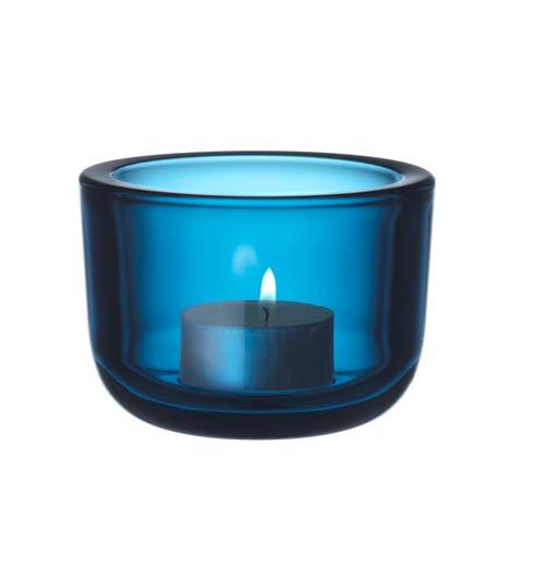 "Tealight Candleholder 2.25"" Turquoise"