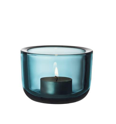 "Tealight Candleholder 2.25"" Seablue"