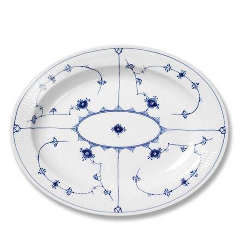 Royal Copenhagen  Blue Fluted Plain Oval Platter Large $425.00