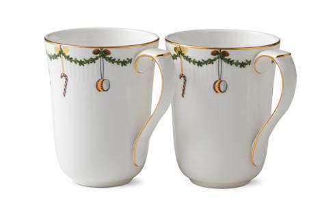 Royal Copenhagen  Star Fluted Christmas Mug Set/2 $95.00