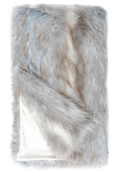 """$325.00 SIBERIAN FAUX FOX FUR THROW  60"""" X 86"""""""