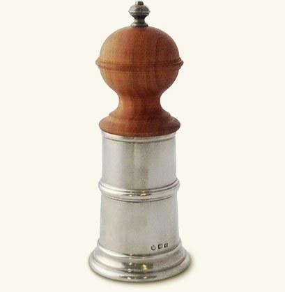 $230.00 Wood & Pewter Pepper Mill