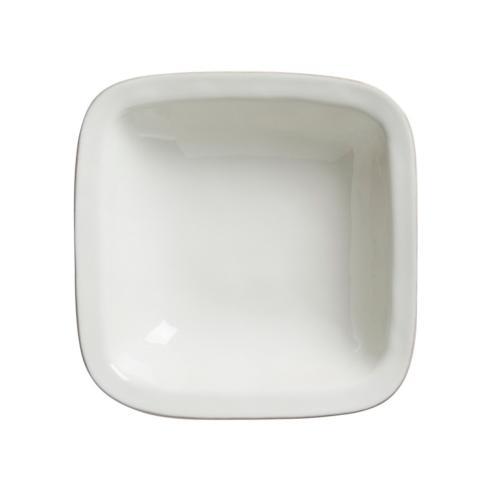 $62.00 Puro Whitewash Rounded Square Bowl, Medium