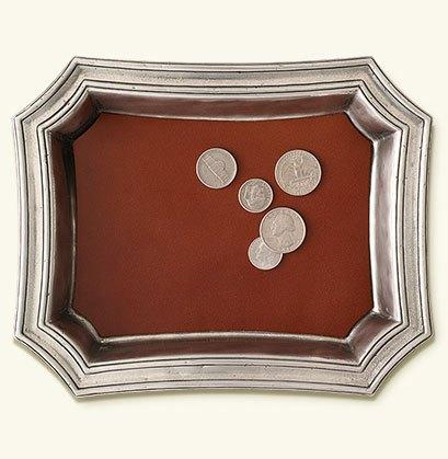 $235.00 Pocket Change Tray w/Leather