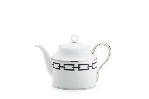 Ginori 1735  Impero - Catene Blue  Tea Pot & Cover 12 Cup $495.00