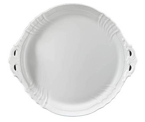 Richard Ginori 1735  Vecchio Ginori - White Cake Plate, Handled $135.00