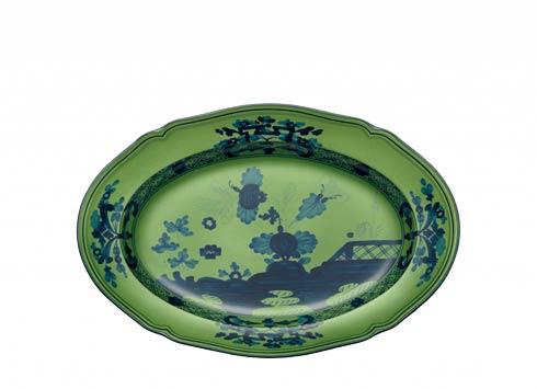 Ginori 1735 Oriente Italiano Malachite Pickle Dish $125.00